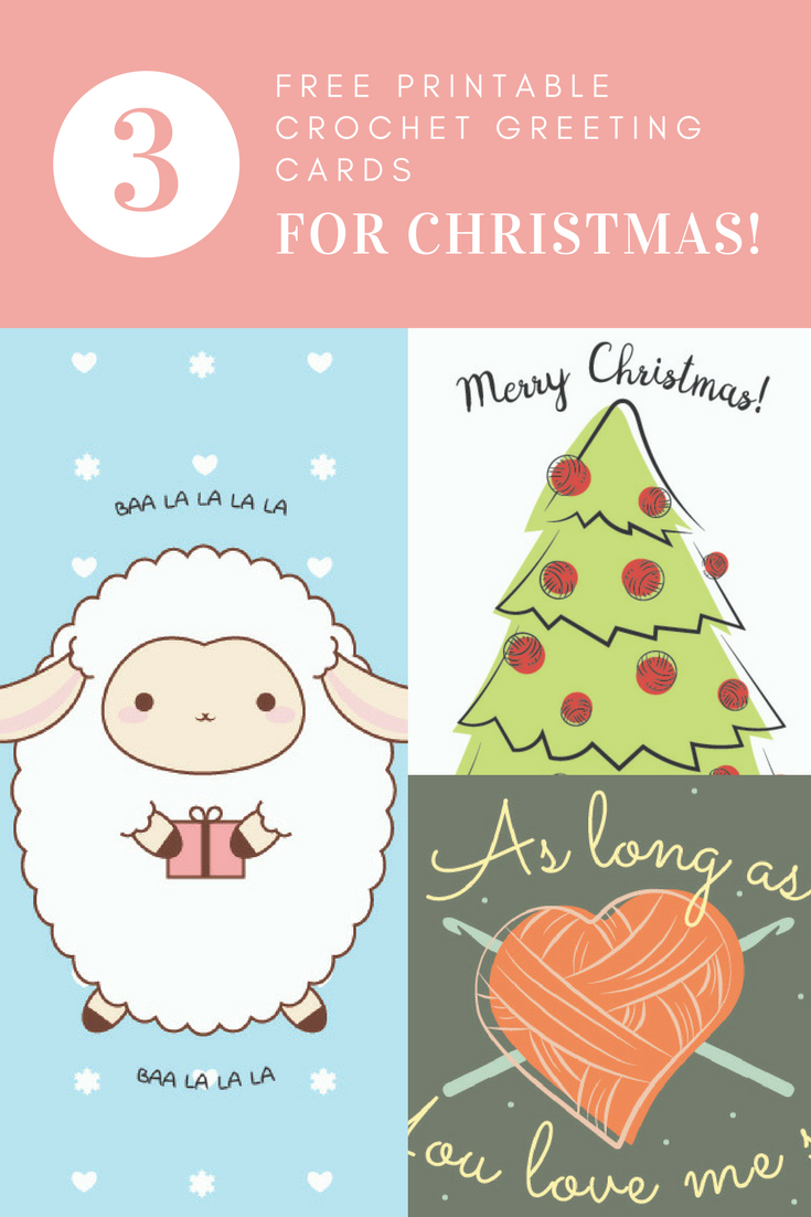 Free Printable Crochet Greeting Cards For Christmas! - I Like Crochet - Free Printable Love Greeting Cards