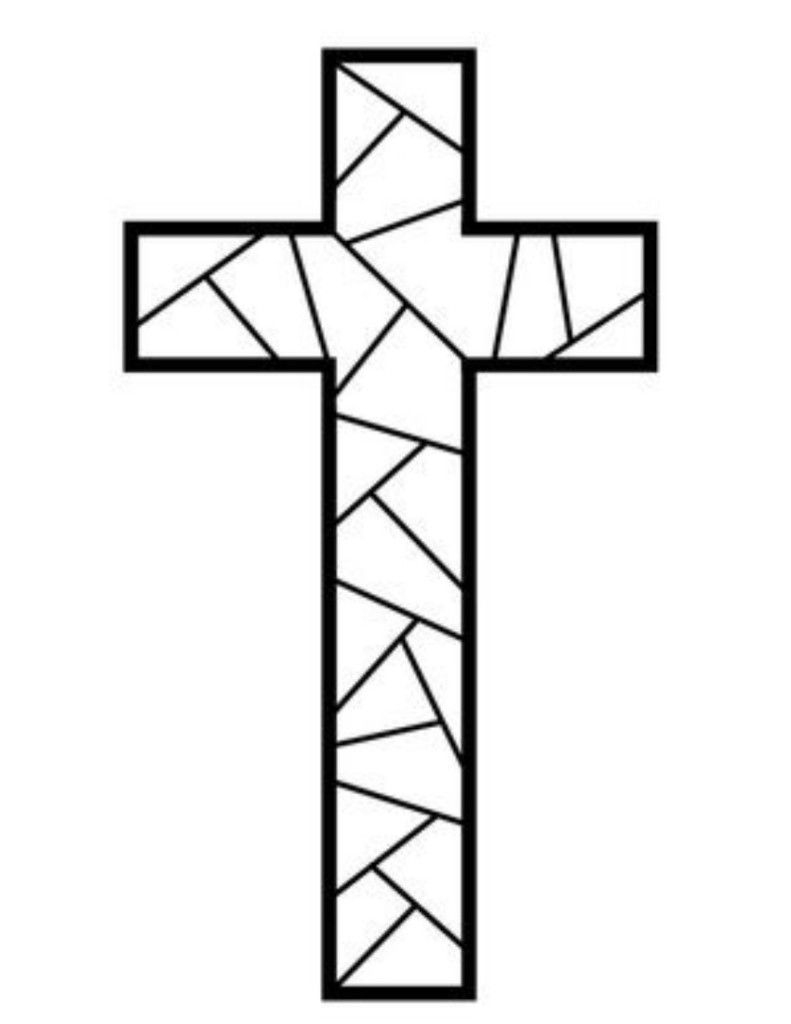 Free Printable Cross Coloring Pages | Coloring Pages | Stain Glass - Free Printable Cross