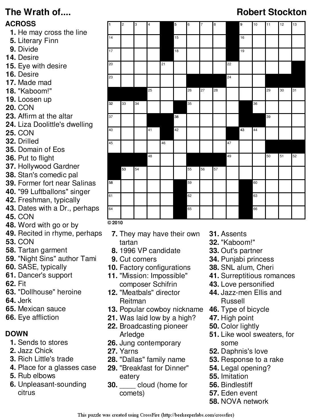 Free Printable Crossword Puzzle Freepsychiclovereadings Com - Classy - Free Printable Crosswords Usa Today