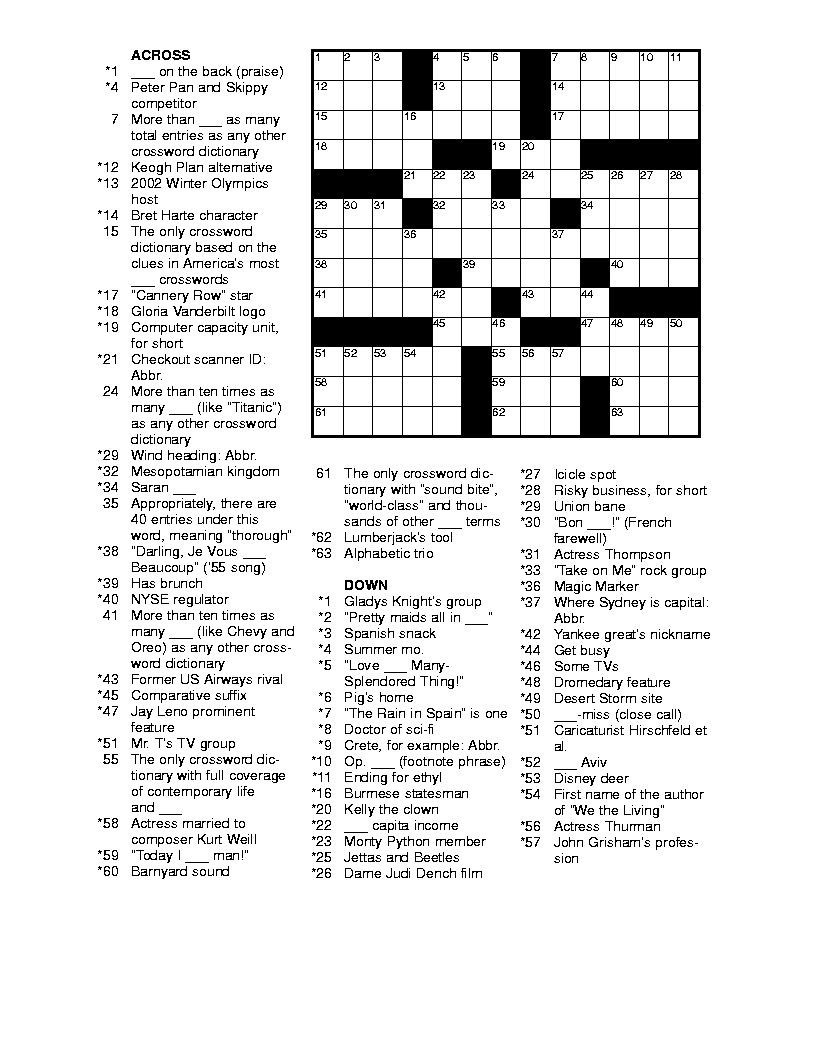 Free Printable Crossword Puzzles For Adults | Puzzles-Word Searches - Free Printable Crossword Puzzle Maker With Answer Key