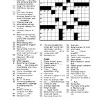 Free Printable Crossword Puzzles For Adults | Puzzles Word Searches   Free Printable Easy Crossword Puzzles