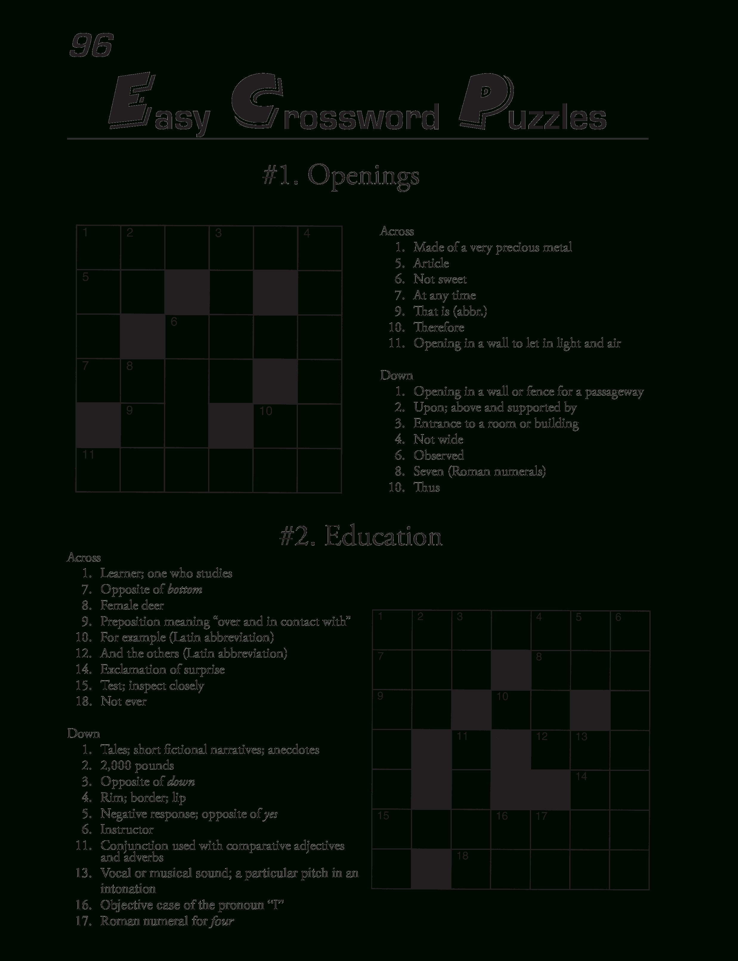 Free Printable Crossword Puzzles Template | Templates At - Create A Crossword Puzzle Free Printable