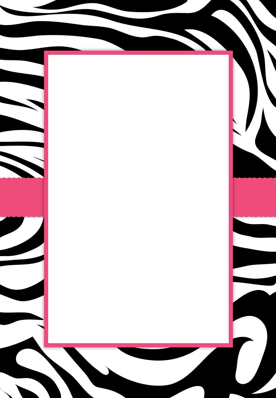 Free #printable Customizable Zebra Stripes #party Invitation | Party - Free Printable Zebra Print Birthday Invitations
