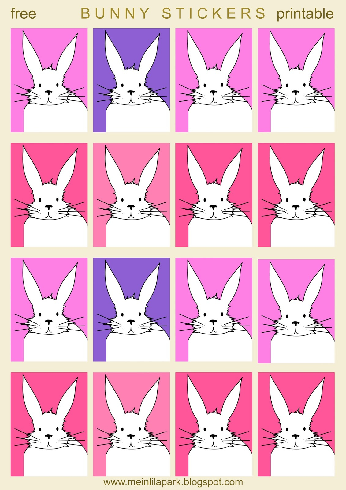 Free Printable Cute Bunny Planner Stickers - Hasensticker - Freebie - Free Printable Bunny Pictures