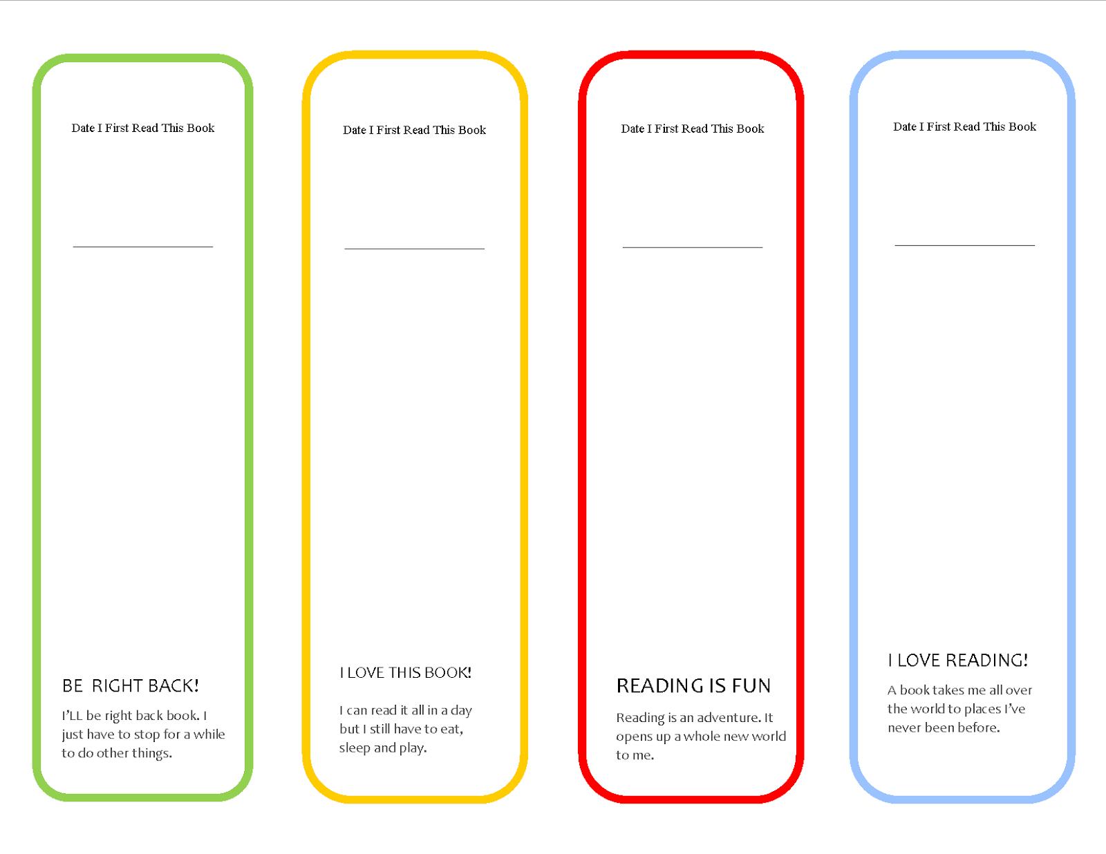 Free Printable Cute Girls Bookmark ~ Parenting Times - Free Printable Back To School Bookmarks