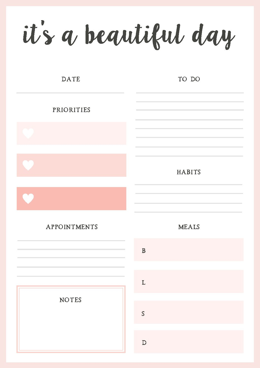 Free Printable Daily Planner! | Blessed Mess Life - Free Printable Daily Planner 2017