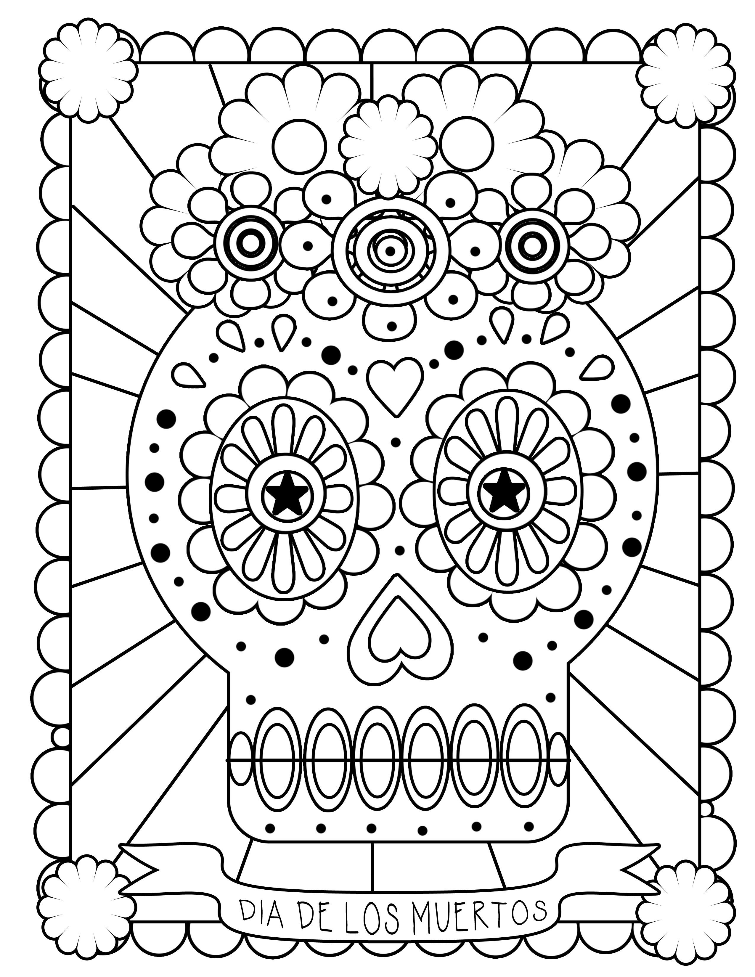 Free Printable Day Of The Dead Coloring Pages Best Lovely | Fiscalreform - Free Printable Day Of The Dead Coloring Pages