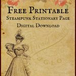 Free Printable Digital Download Stationary Page   Free Printable Stationary