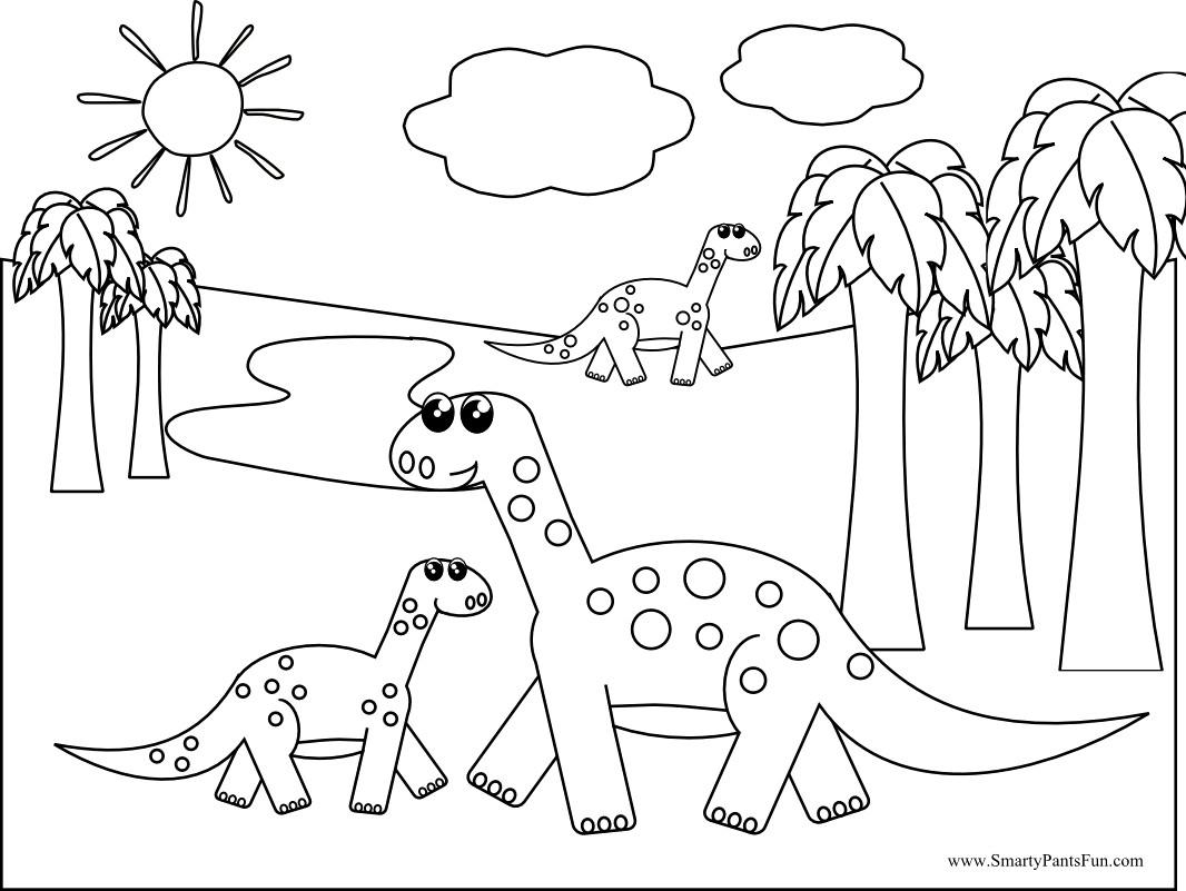 Free Printable Dinosaurs 2 21741 At Dinosaur Coloring Pages P - Free Printable Dinosaur Coloring Pages