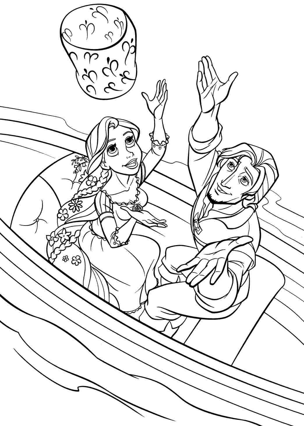 Free Printable Disney Princess Tangled Rapunzel Colouring Pages For - Free Printable Tangled