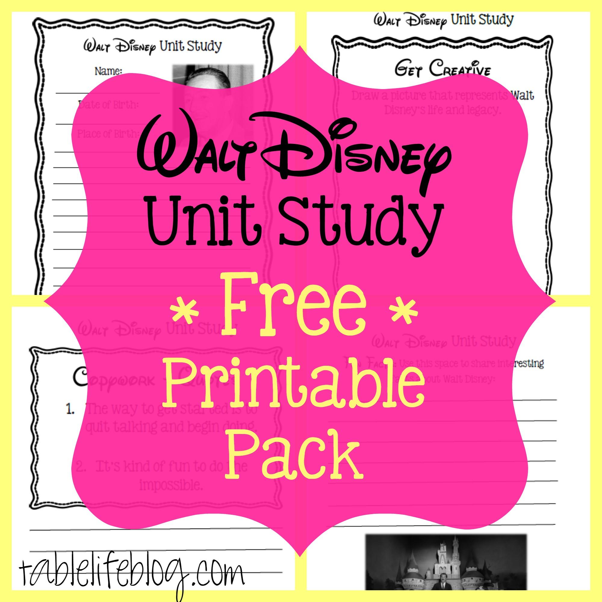 Free Printable Disney Stories Walt Disney Printable Pack Image - Free Printable Disney Stories