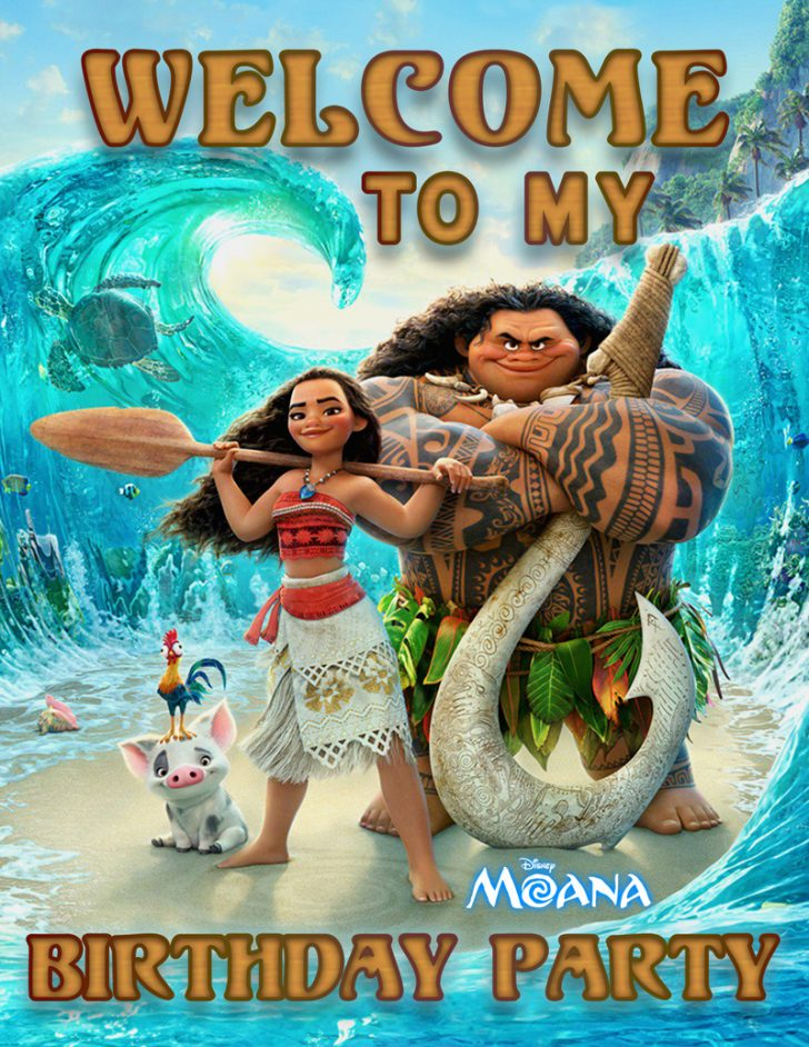 Free Printable Moana Birthday Cards