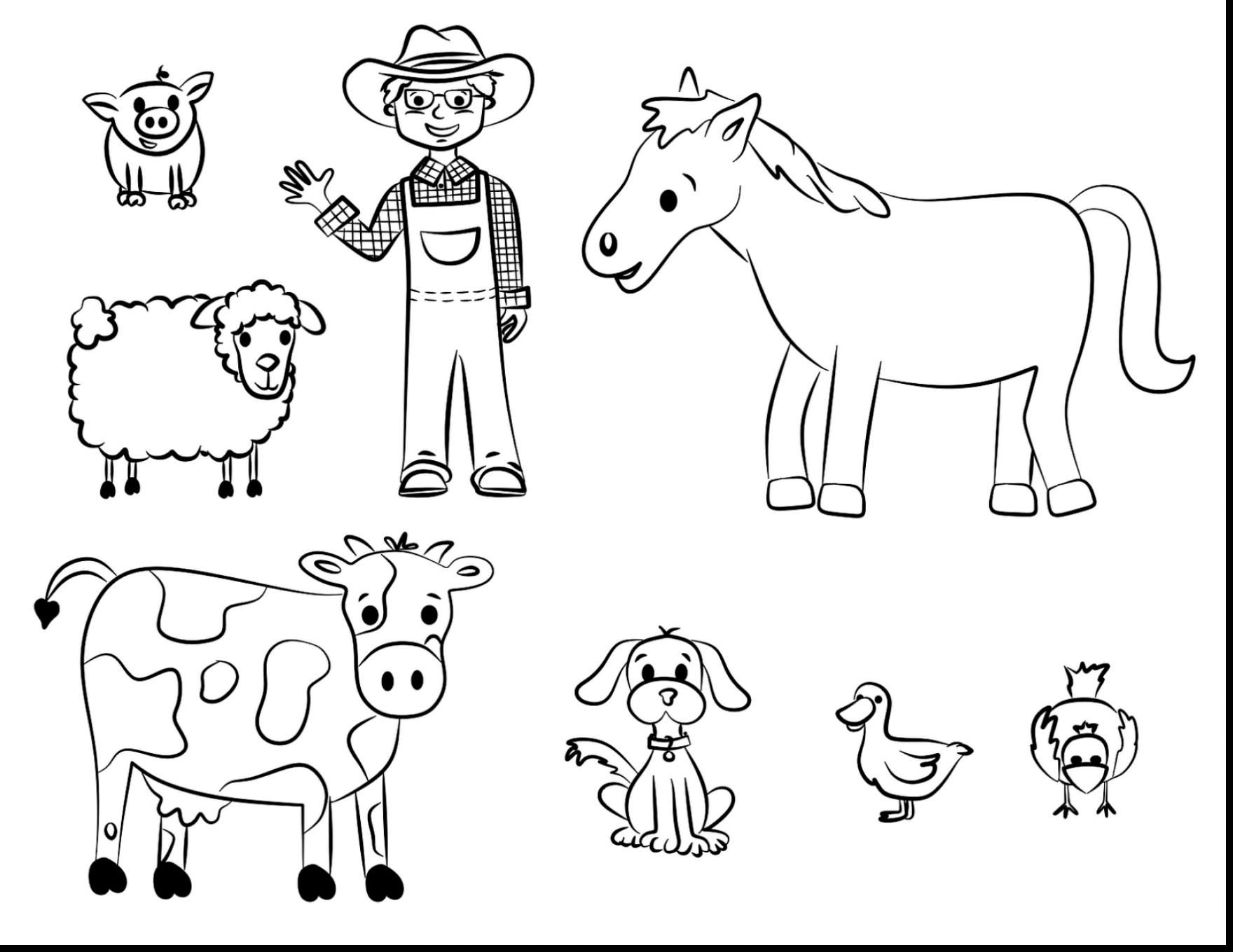 Free Printable Domestic Animals Coloring Pages Download | Coloring - Free Printable Farm Animals