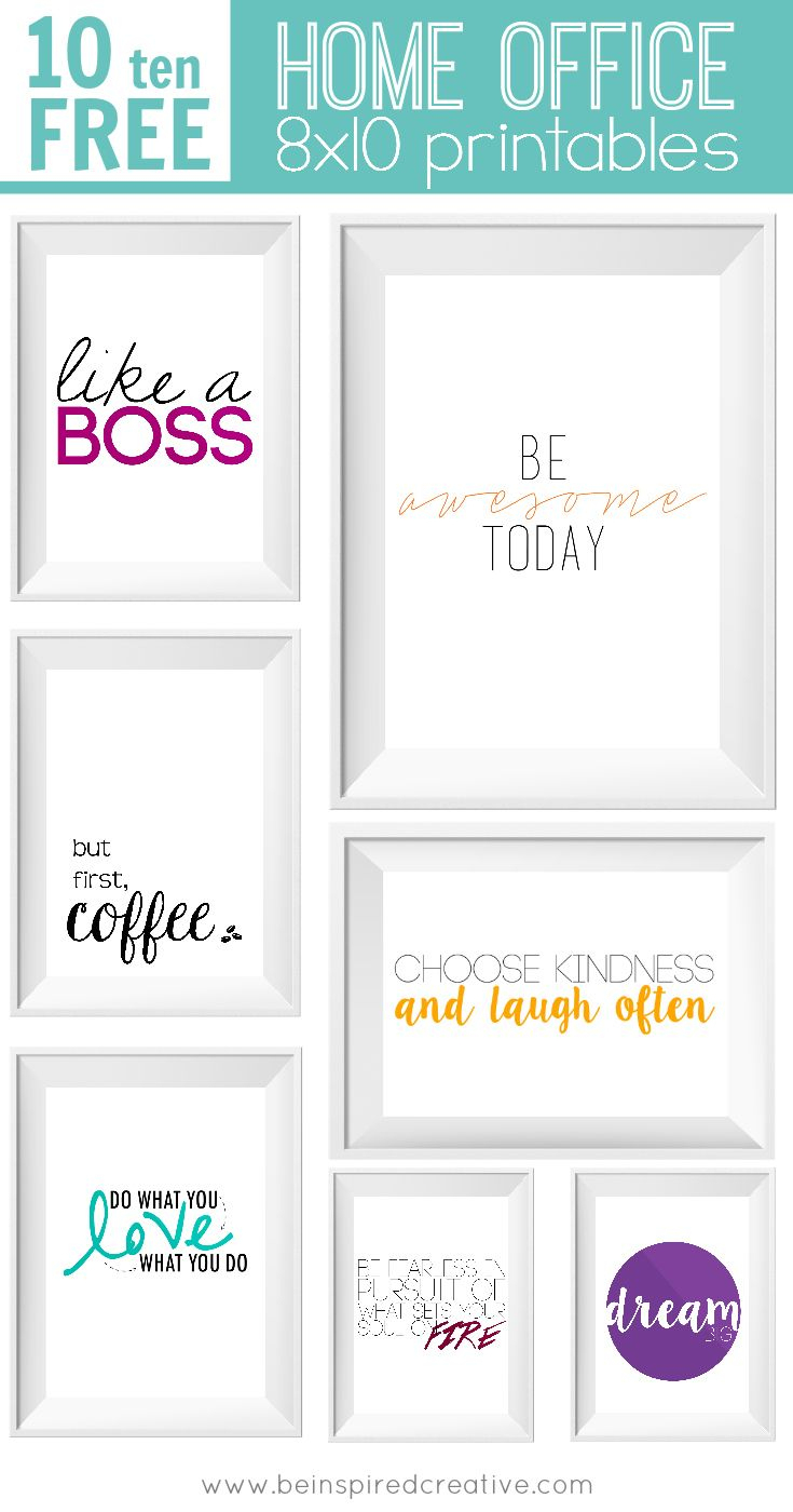 Free Printable Download: 10 Home Office Prints | Vitamix | Pinterest - Free Printable Quotes For Office