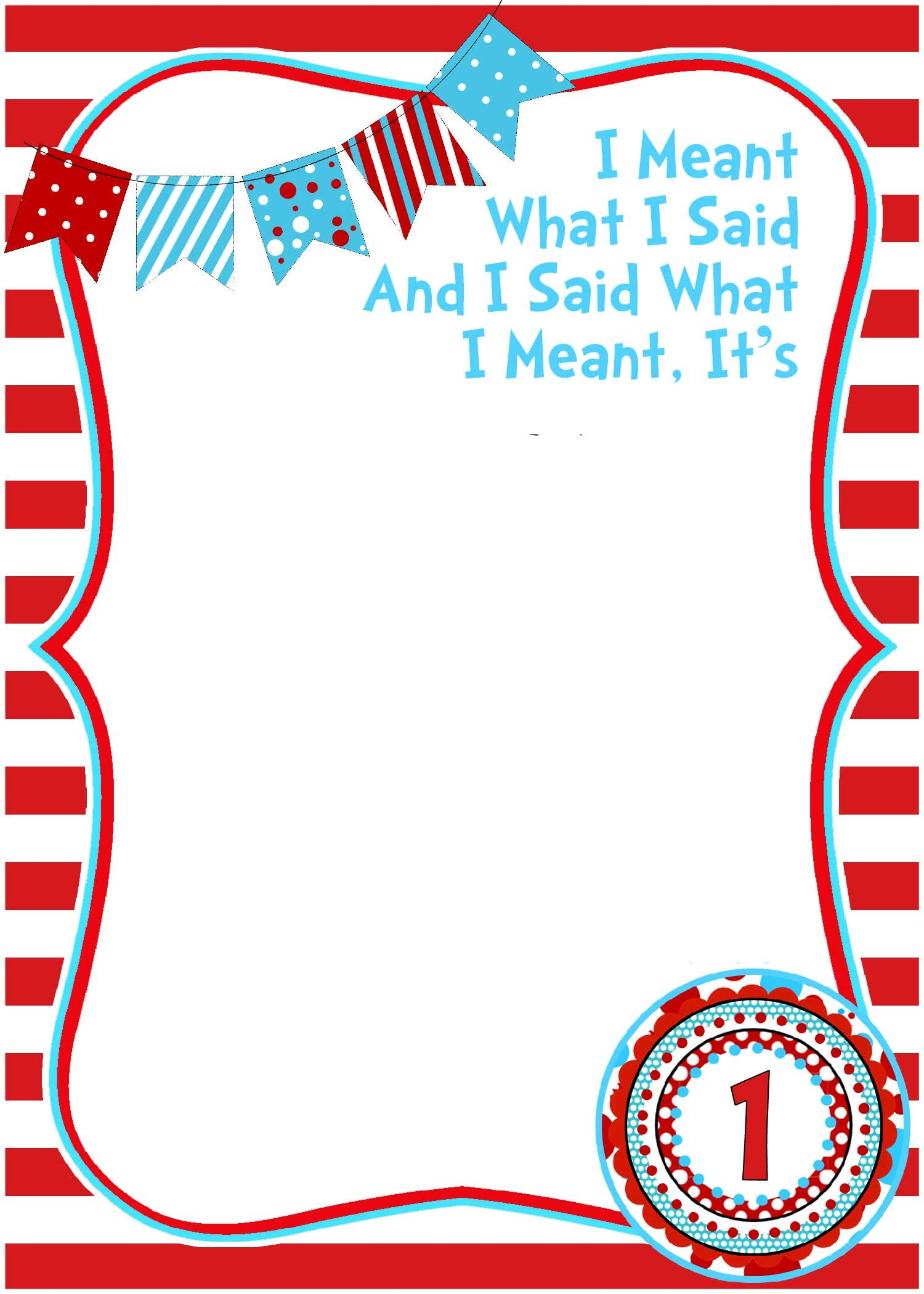 Free Printable Dr Seuss Birthday   Free Printable Birthday - Printable Invitation Templates Free Download