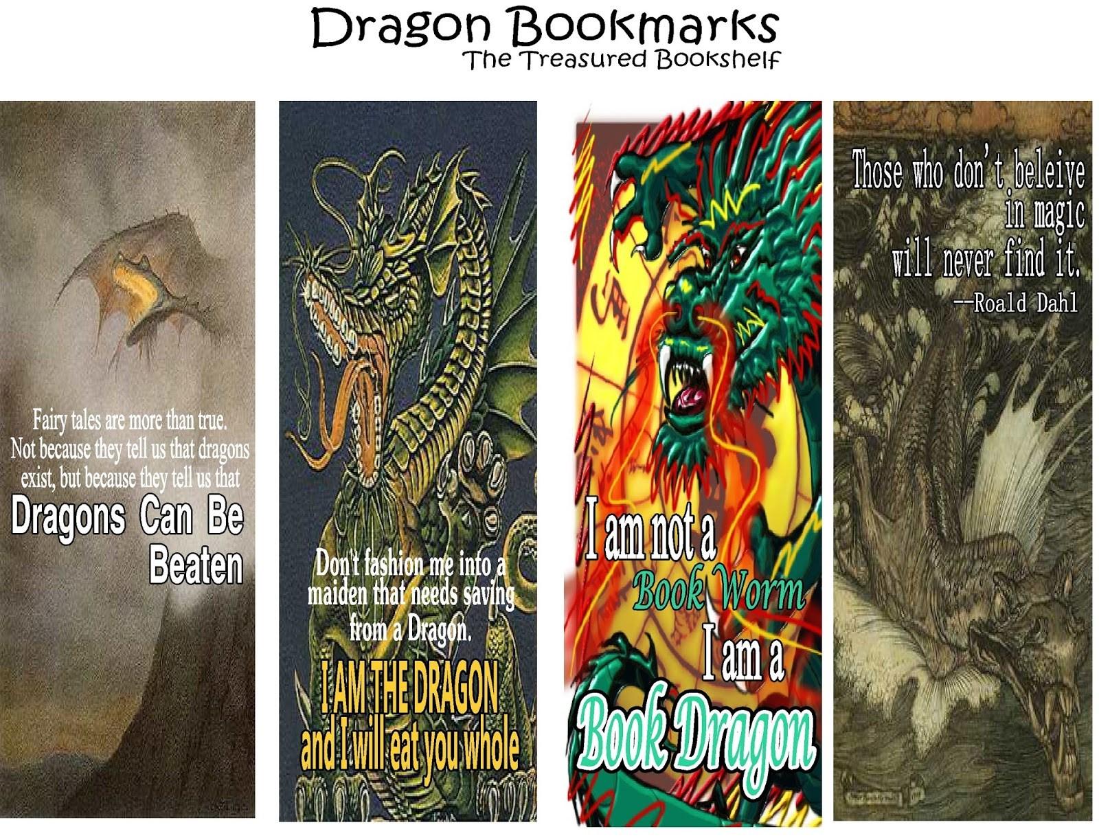 Free Printable Dragon Bookmarks – Ezzy - Free Printable Dragon Bookmarks