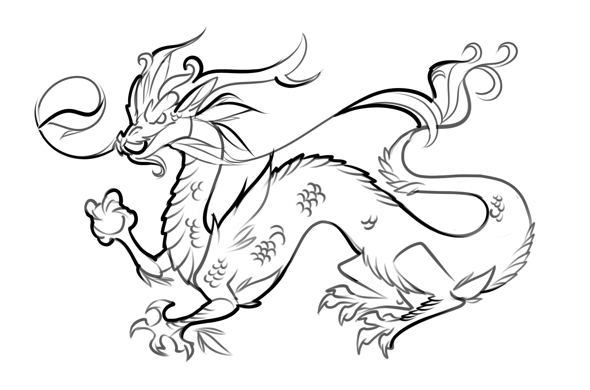 Free Printable Dragon Coloring Pages For Kids | Things That Caught - Free Printable Chinese Dragon Coloring Pages