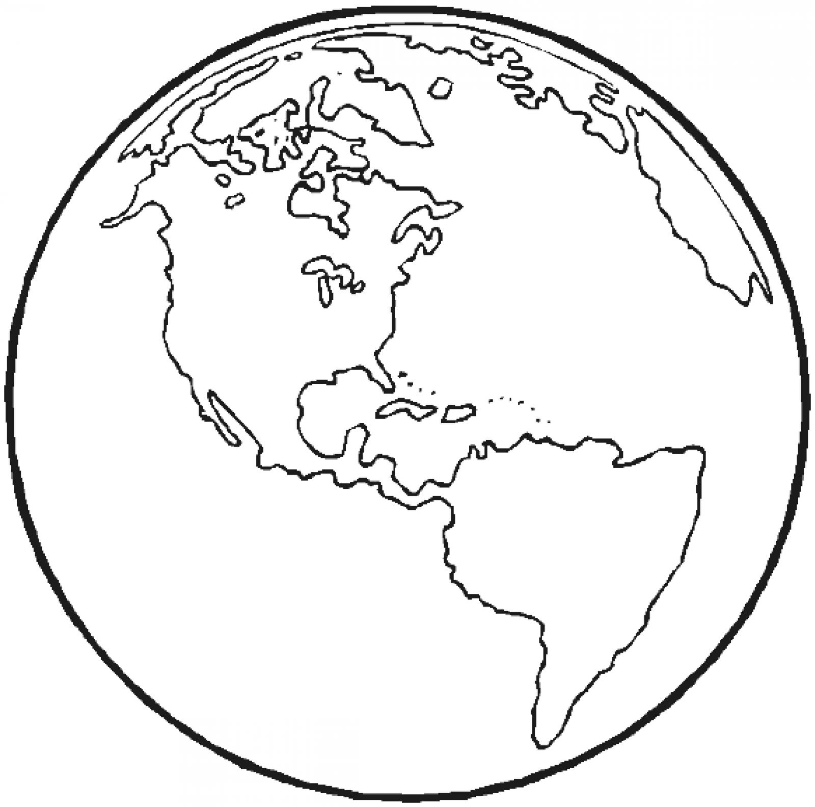 Free Printable Earth Coloring Pages For Kids | Chainimage - Free Printable Earth Pictures