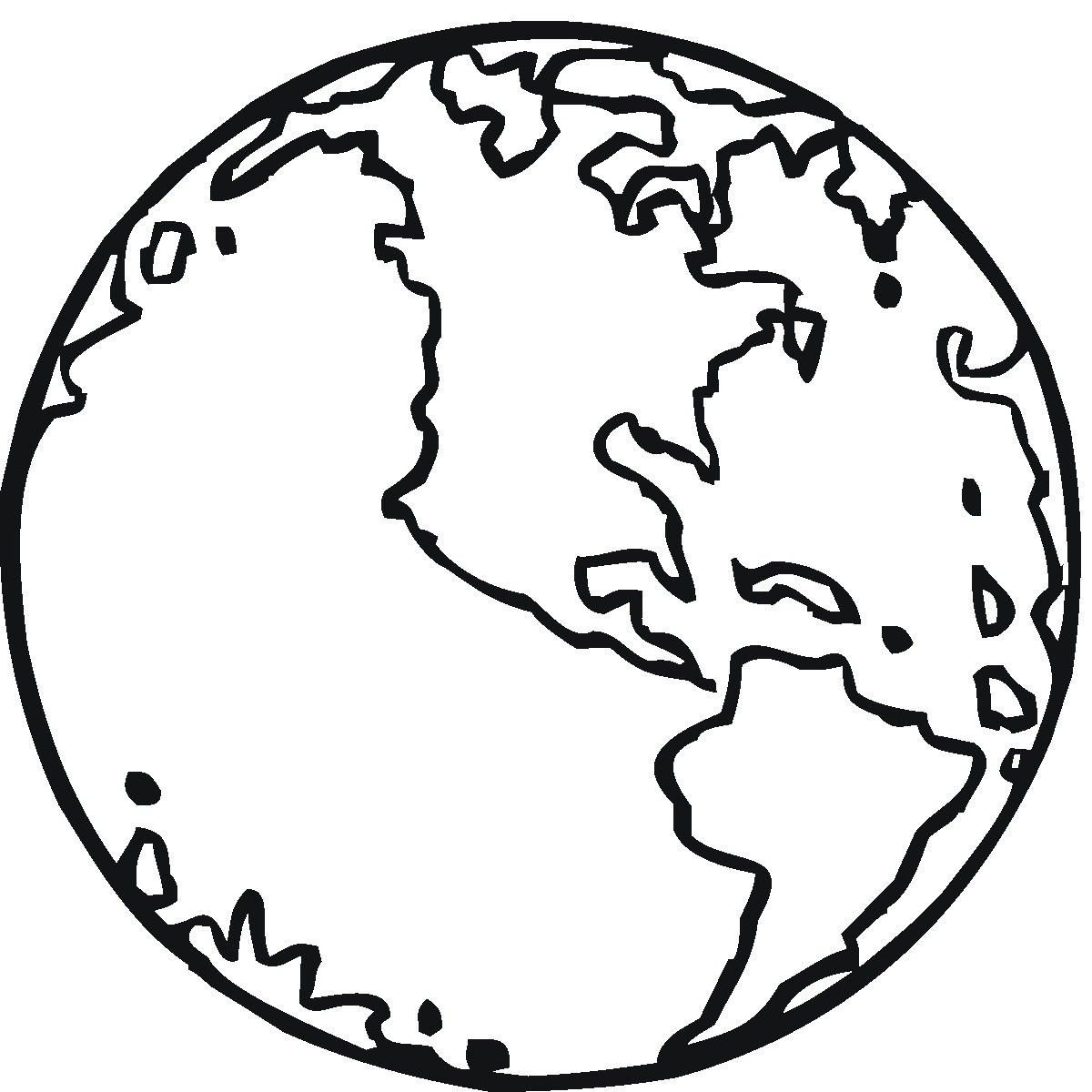 Free Printable Earth Coloring Pages For Kids | Stuff | Pinterest - Free Printable Earth Pictures