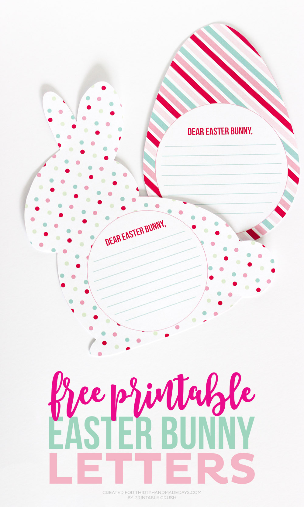 Free Printable Easter Bunny Letters - Thirty Handmade Days - Free Printable Easter Images