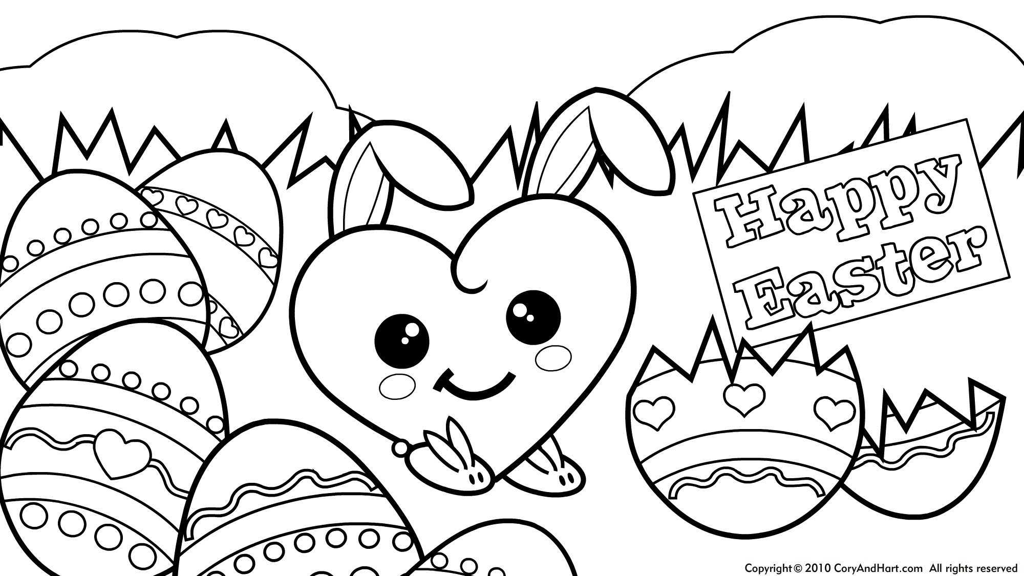 Free Printable Easter Coloring Pages - Bitslice - Free Printable Easter Coloring Pictures