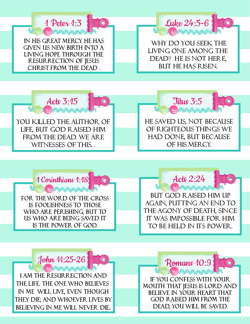 Free Printable Easter Verse Cards  | Hope - Free Printable Easter Cards To Print