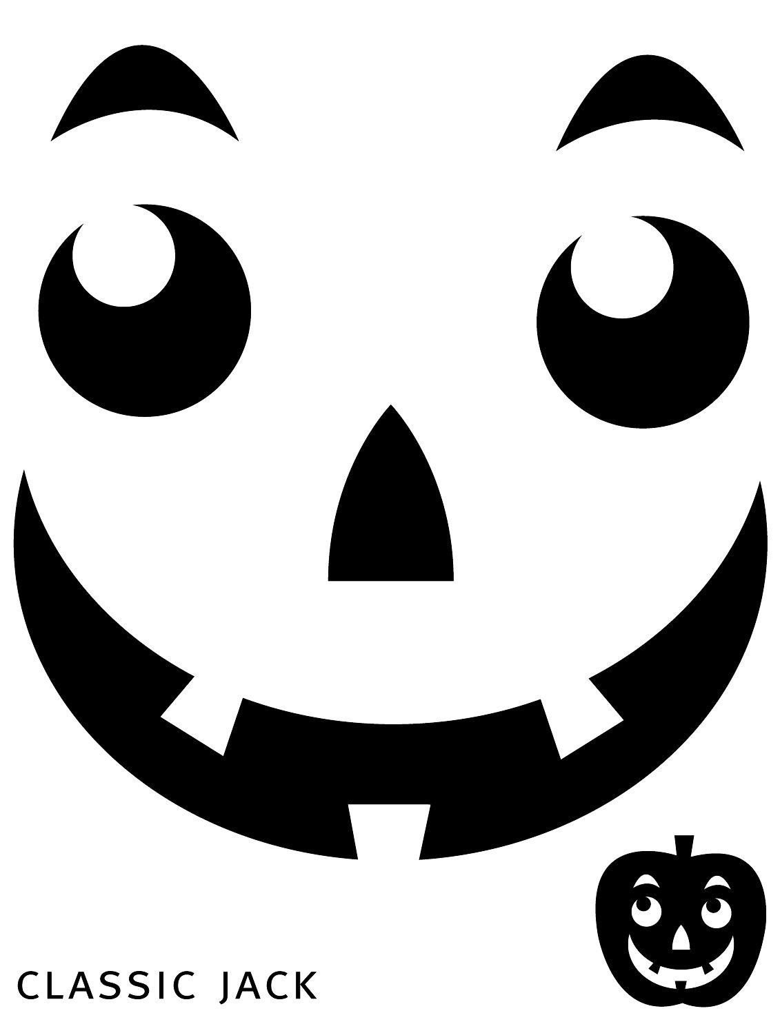 Free Printable Easy Funny Jack O Lantern Face Stencils Patterns - Pumpkin Cutouts Printable Free