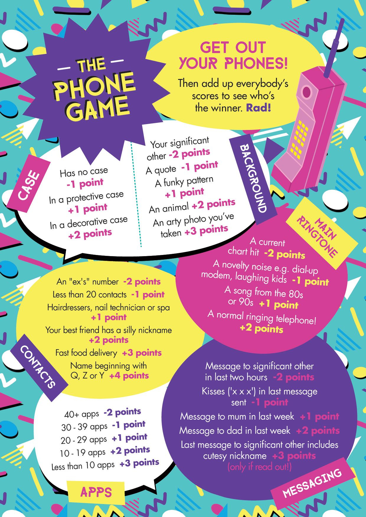 """Free Printable: Easy, Simple """"the Phone Game""""! Hen Party Game Idea - Free Printable Women's Party Games"""