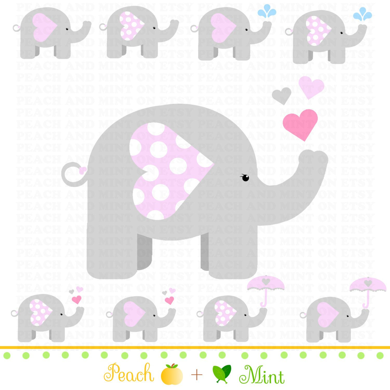 Free Printable Elephants For Corsage In Baby Shower - Google Search - Free Printable Elephant Baby Shower