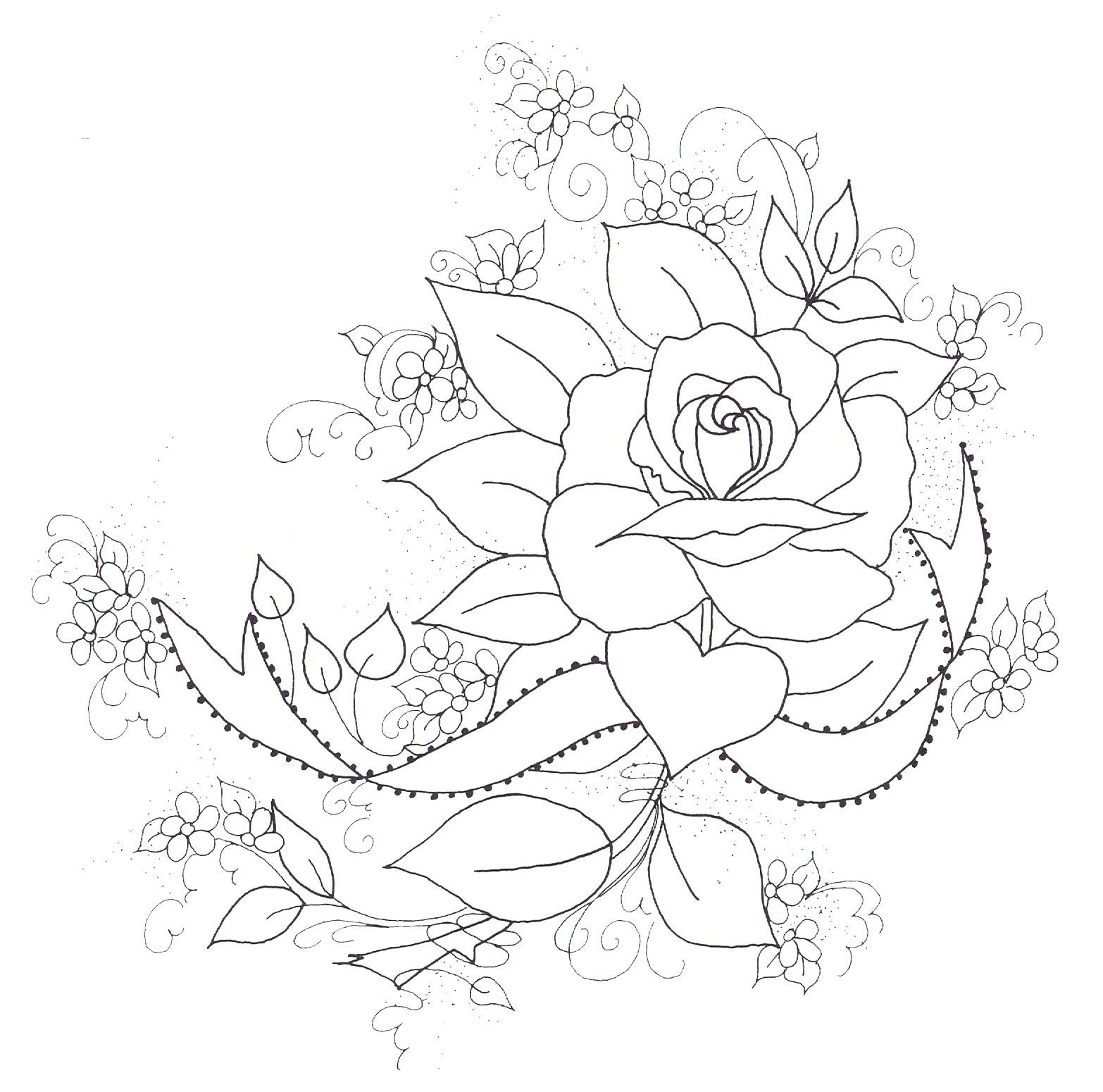 Free Printable Embroidery Patterns Roses | Rose Project | Fabric - Free Printable Embroidery Patterns