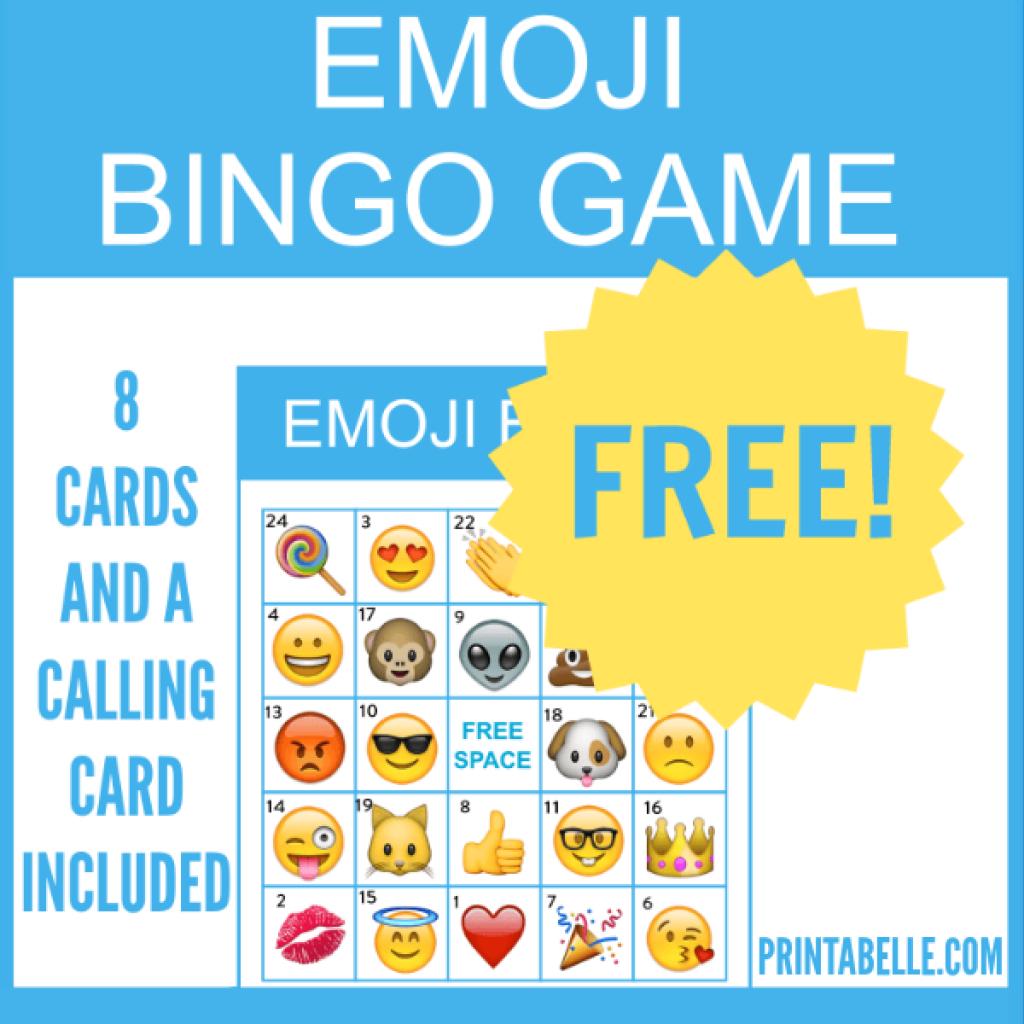 Free Printable Emoji Bingo Game | Idées Pour La Maison | Pinterest - Free Emoji Bingo Printable