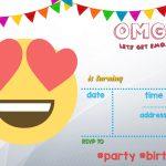 Free Printable Emoji Invitation | Free Printable Birthday   Free Printable Emoji B Day Invites
