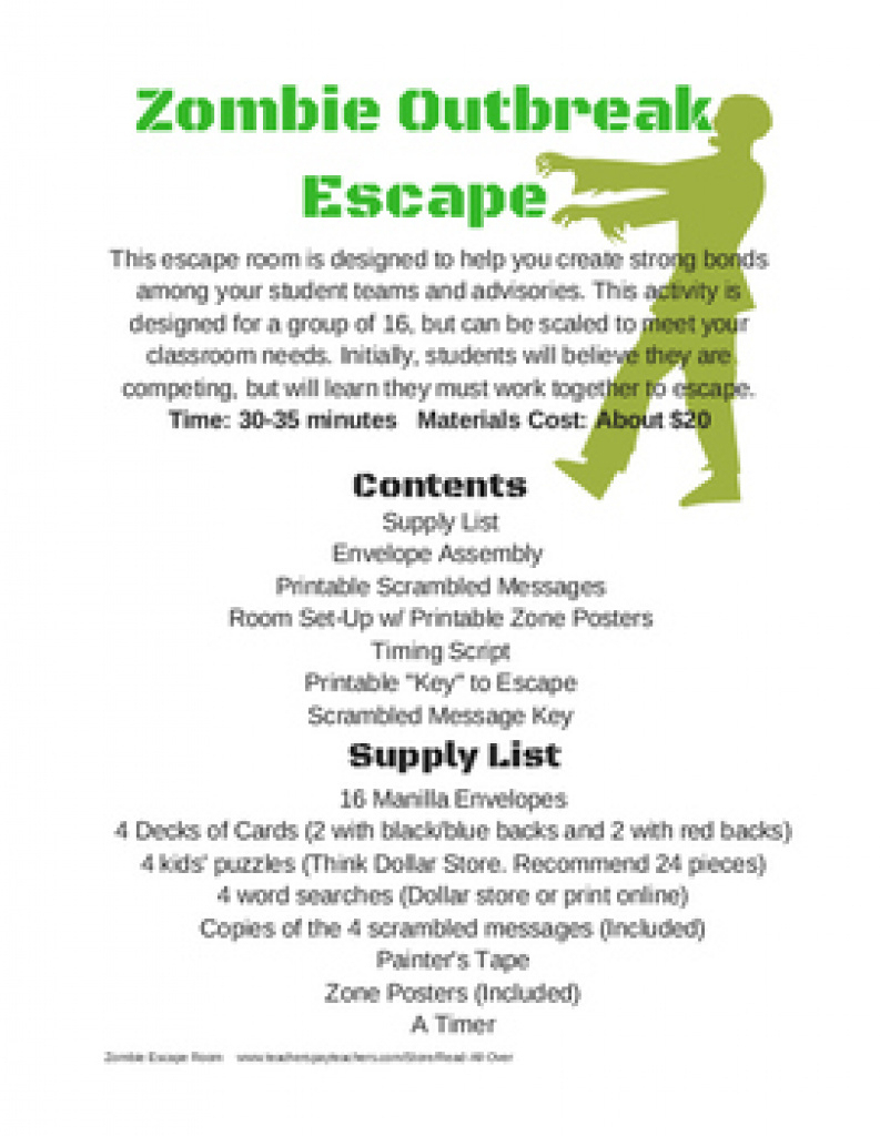 graphic regarding Free Escape Room Printable named Printable Escape Place Free of charge Free of charge Printable Down load