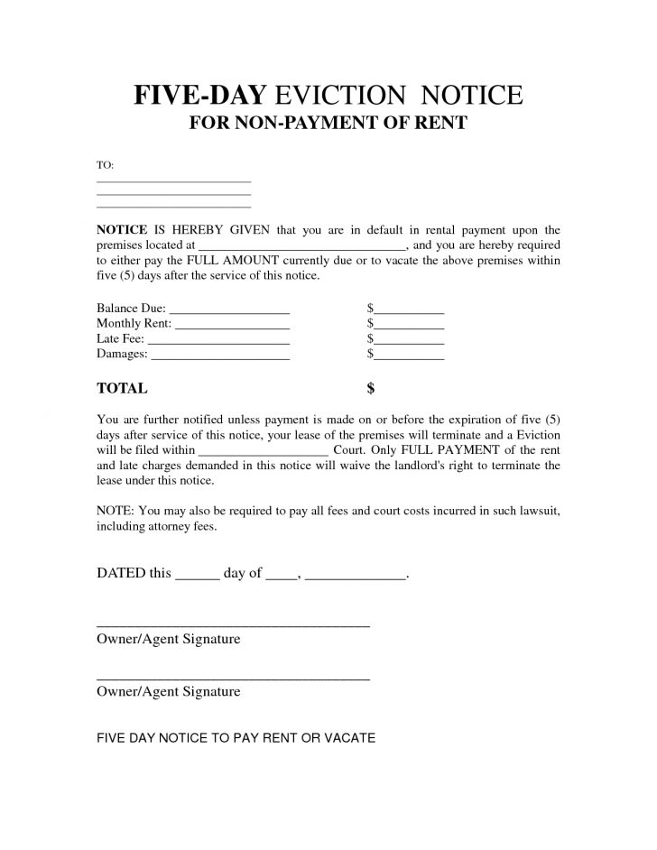 Free Printable Eviction Notice