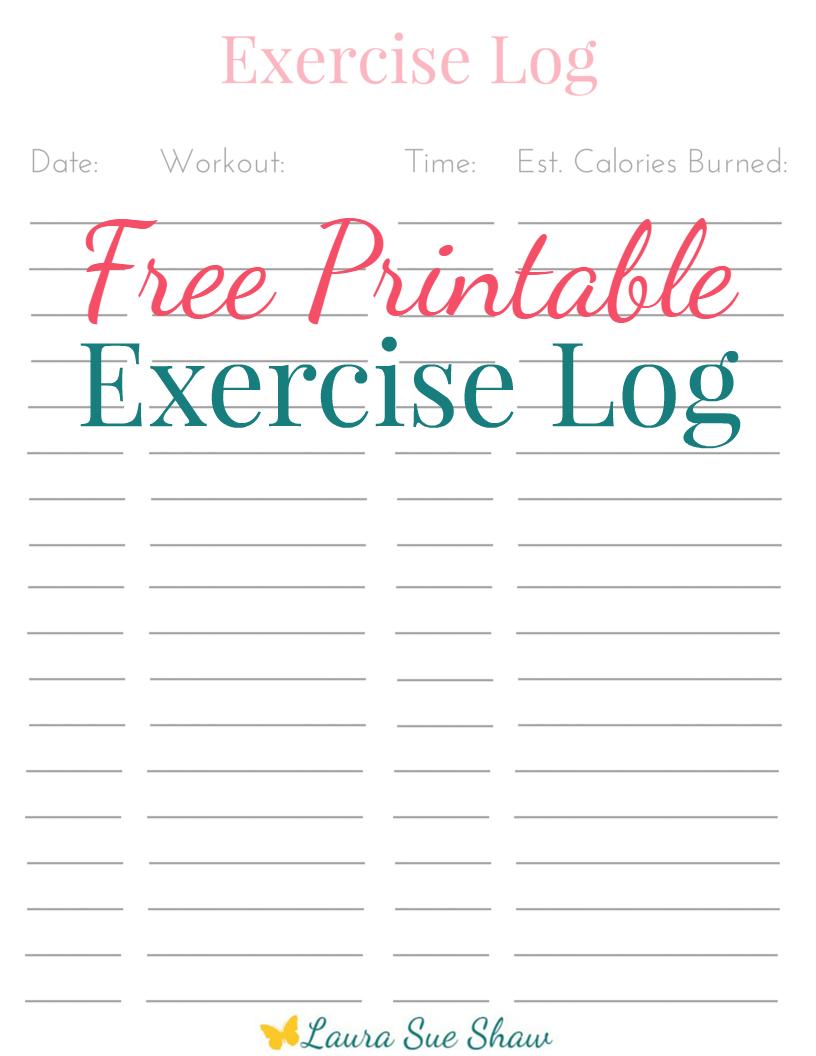 Free Printable Exercise Log - Free Printable Fitness Log
