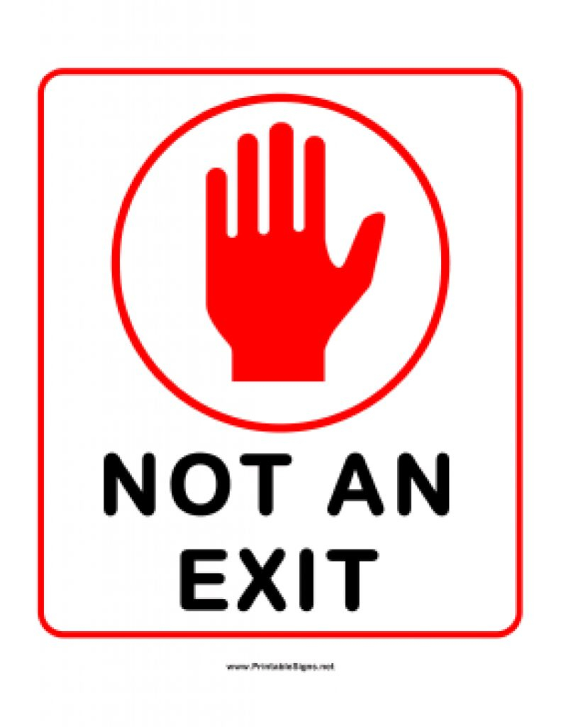 photograph about Printable Exit Sign known as Totally free Printable No Exit Symptoms Totally free Printable Obtain
