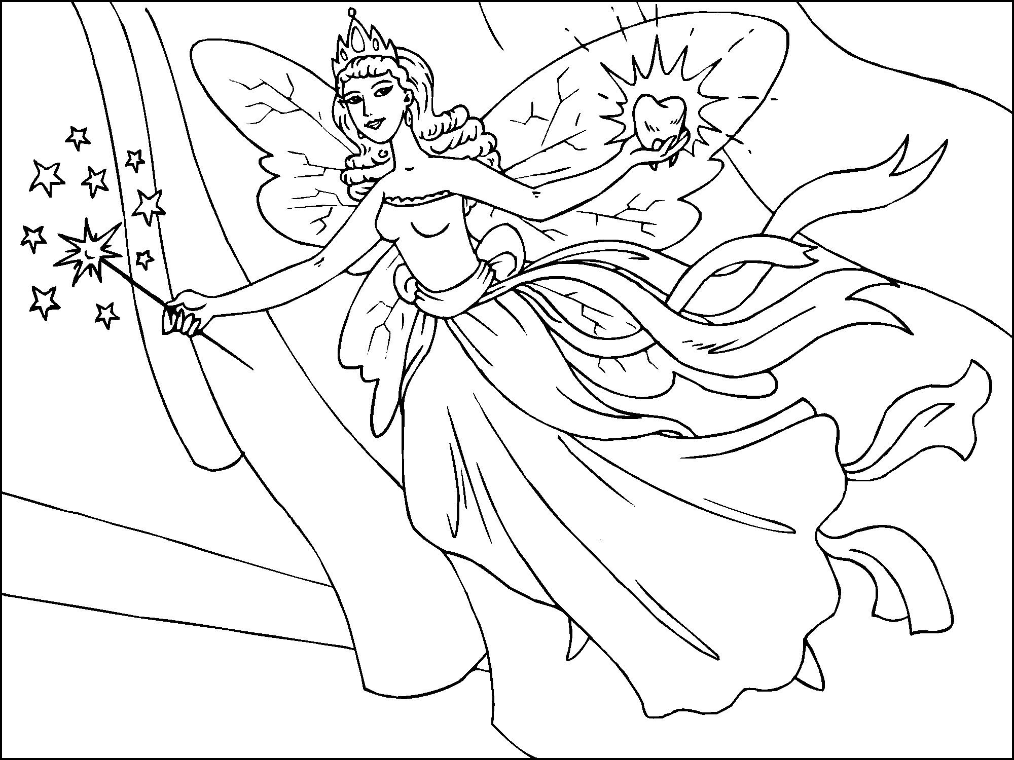 Free Printable Fairy Coloring Pages For Kids | Everything - Free Printable Fairy Coloring Pictures