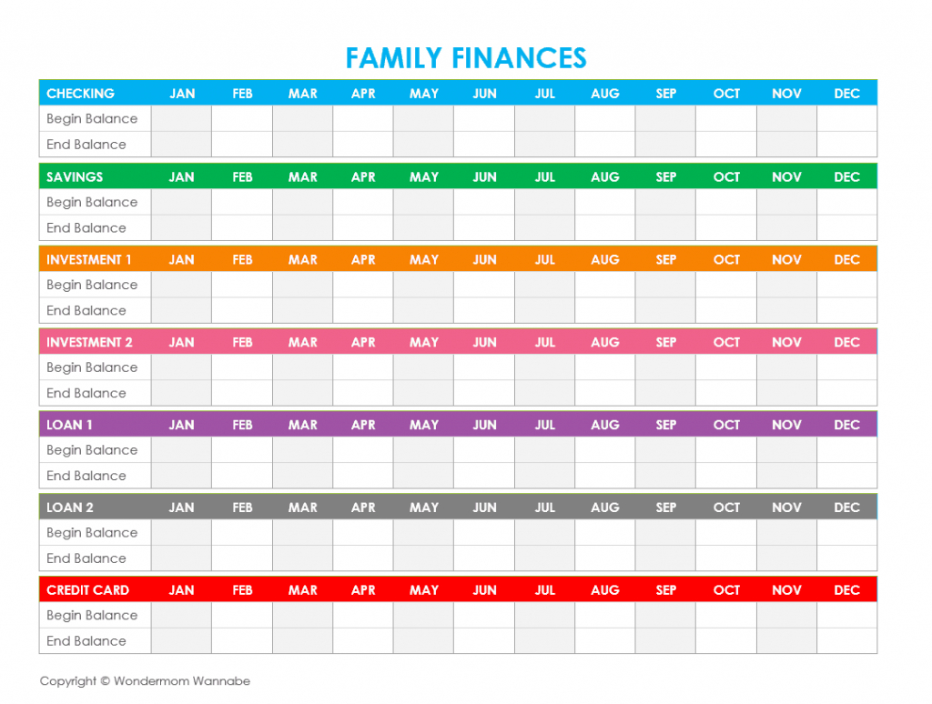 Free Printable Family Budget Worksheets - Free Printable Family Budget