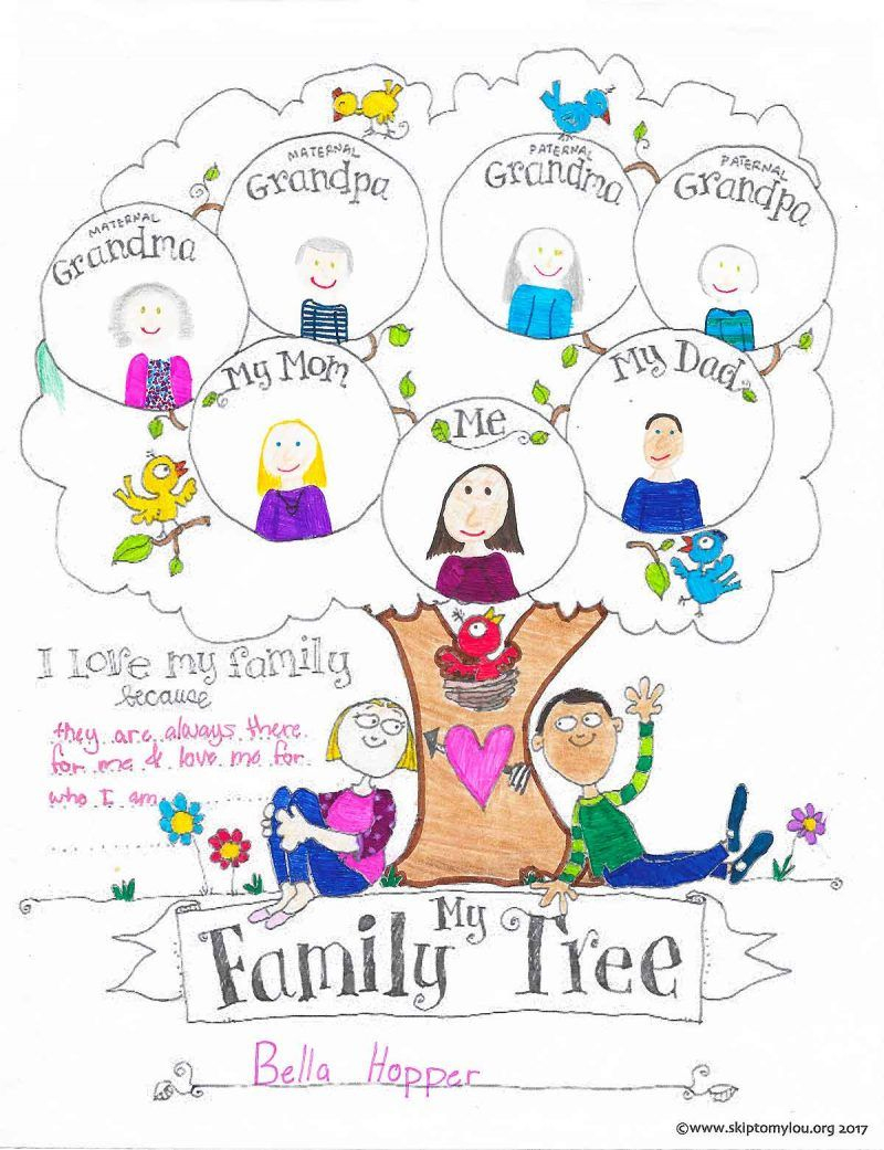 Free Printable Family Tree Coloring Page | Child's Play | Pinterest - Free Printable Family Tree