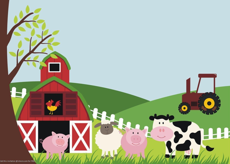 Free Printable Farm Animals Birthday Invitation   Free Printable - Free Printable Cow Birthday Invitations