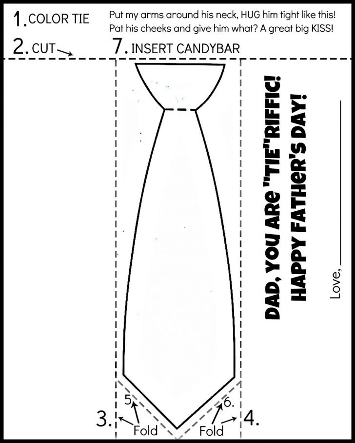 Free Printable Tie Template