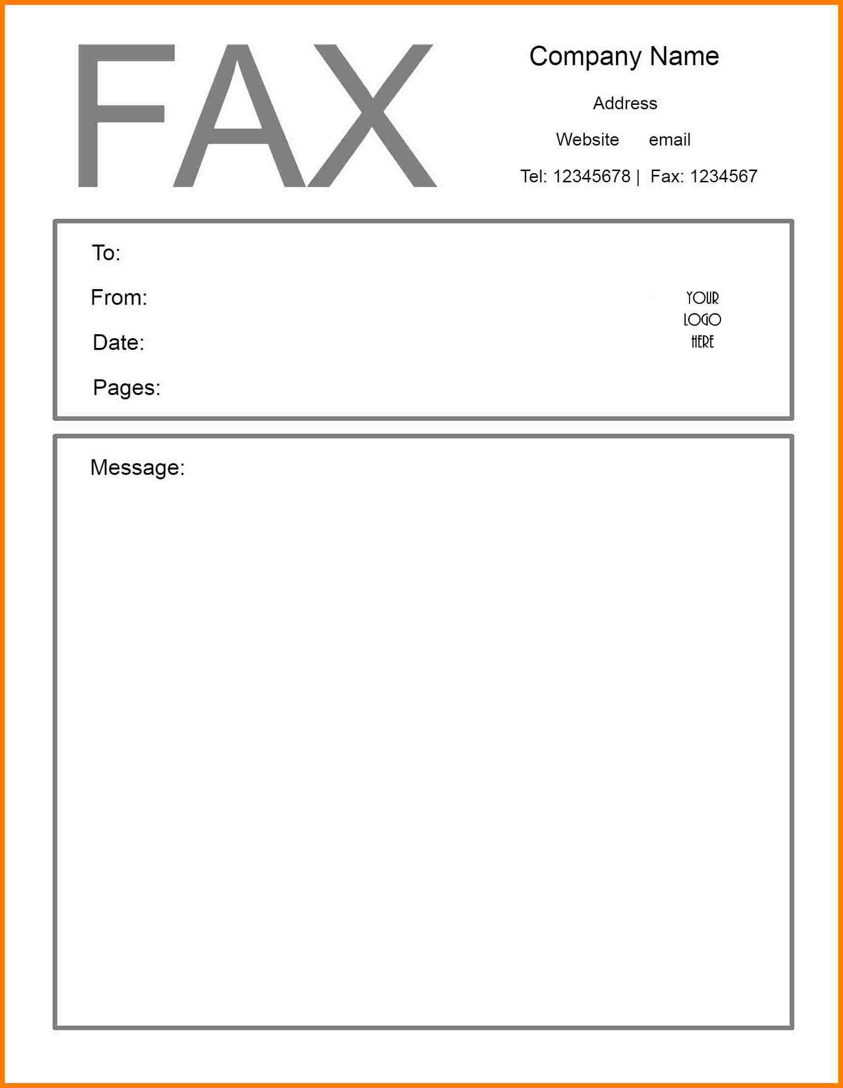 Free Printable Fax Cover Letter Template - Wethepeopletshirts - Free Printable Cover Letter For Fax