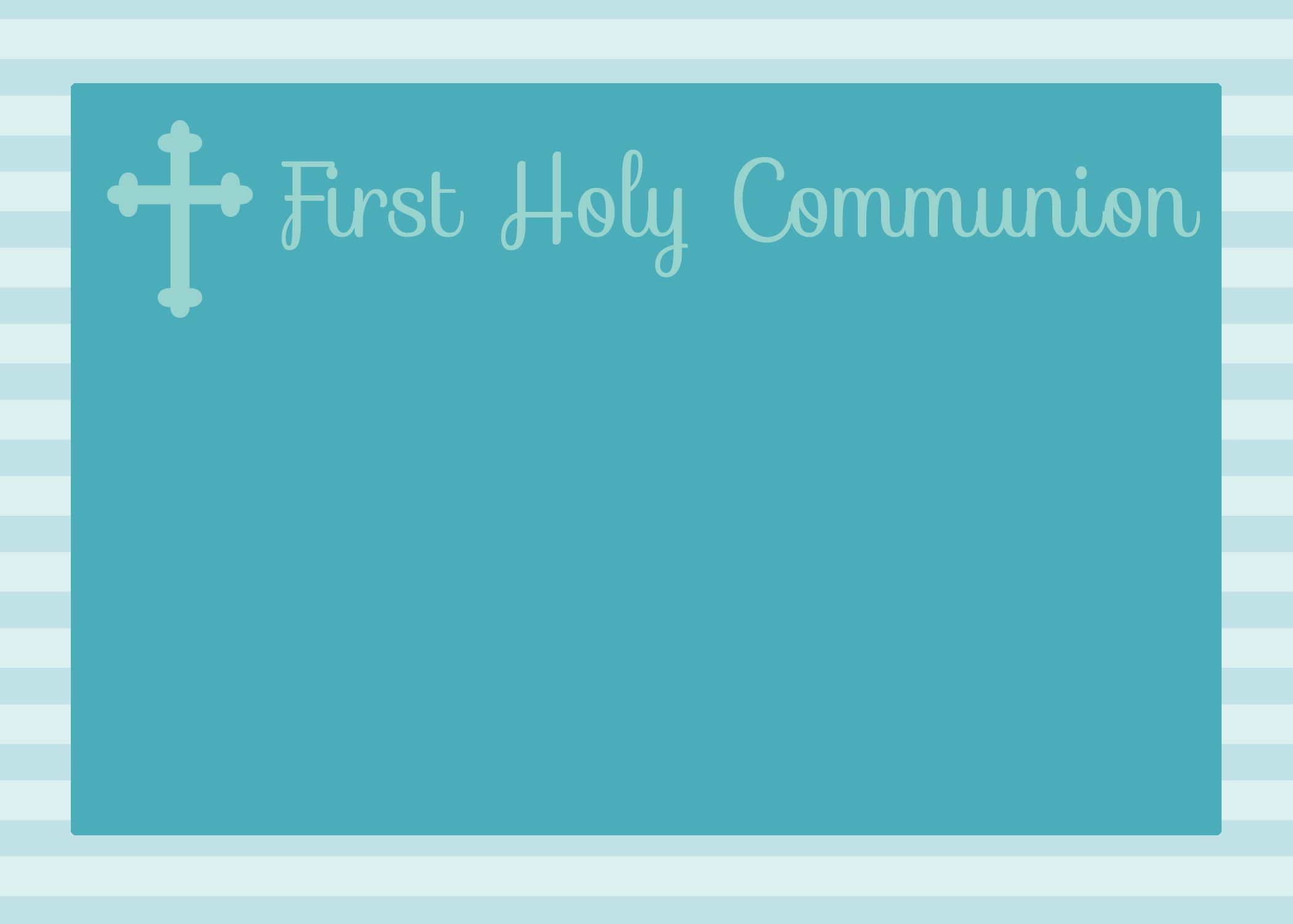 Free Printable First Communion, Baptism, And Confirmation - Free Printable 1St Communion Invitations