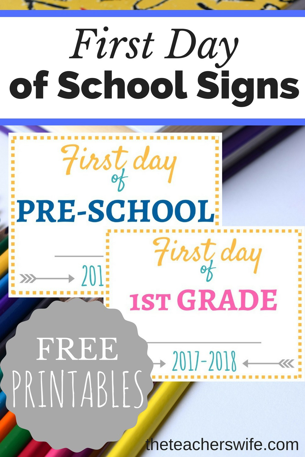 Free Printable First Day Of School Signs - Money Saving Mom® : Money - Free Printable First Day Of School Signs 2017