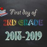 Free Printable First & Last Day Of School Signs 2018 2019   Neatlings   First Day Of Second Grade Free Printable Sign