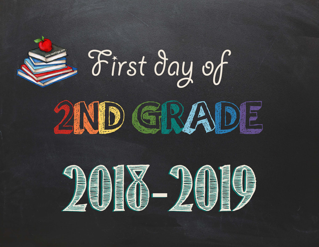 Free Printable First & Last Day Of School Signs 2018-2019 - Neatlings - First Day Of Second Grade Free Printable Sign