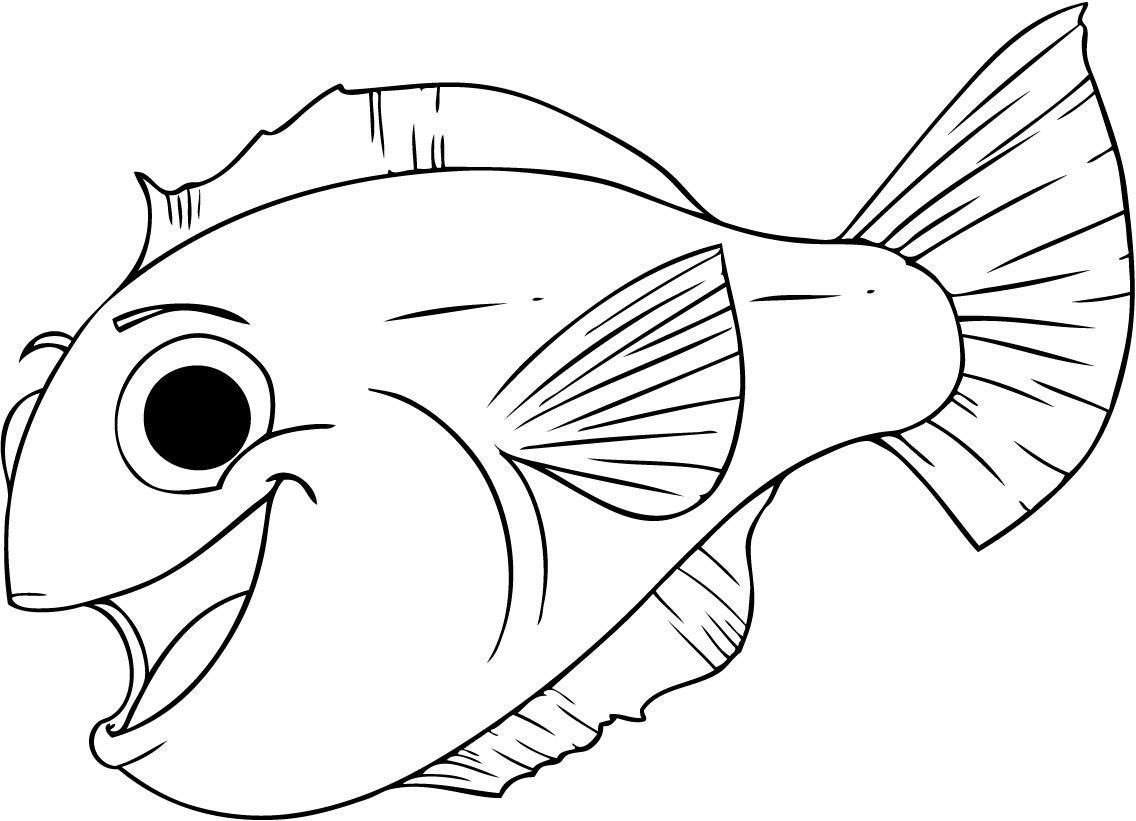Free Printable Fish Coloring Pages For Kids   Tiger Cub   Pinterest - Free Printable Fish Coloring Pages