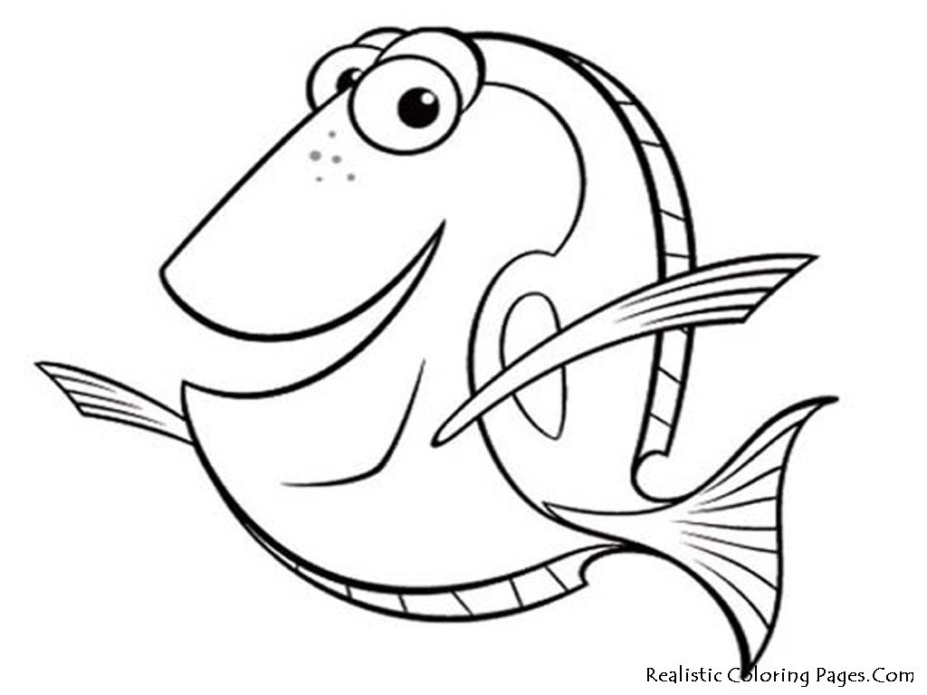 Free Printable Fish Coloring Pages   Kid Crafts   Pinterest   Nemo - Free Printable Fish Coloring Pages