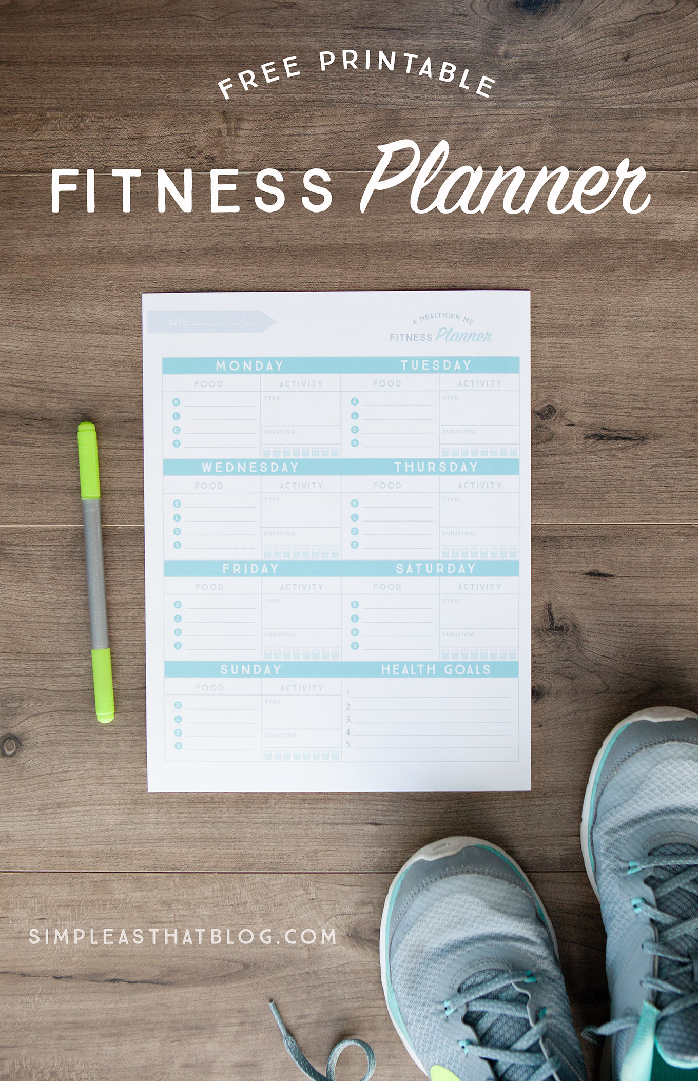 Free Printable Fitness Planner - Free Printable Fitness Planner