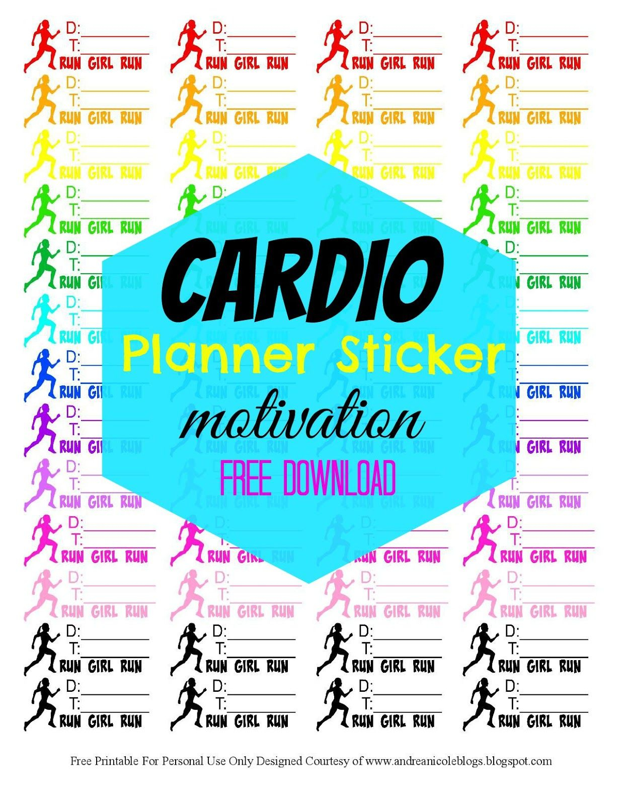 Free Printable Fitness Planner Stickers Andrea Nicole Blogs | Free - Free Printable Fitness Planner